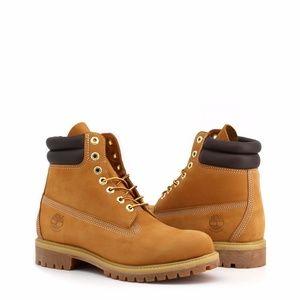"Timberland Premium 6"" Double Collar Boot Wheat"